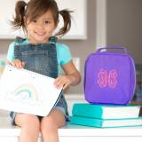 Personalized Purple Lunch Box