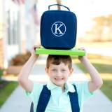 Personalized Navy Lunch Box