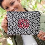 Monogrammed Black Diamond Wristlet Clutch