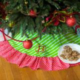 Personalized Merry And Bright Tree Skirt