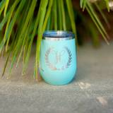 Initial Wreath Stainless Steel Tumbler  . . .