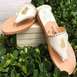 Palm Beach Classic Pineapple Sandals Shell  . . .