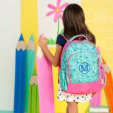 Monogrammed Lottie Dot Print Backpack