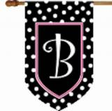 Monogrammed House Flag Black And White  . . .
