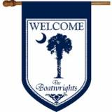 Blue Palmetto Personalized Flag