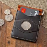 Monogrammed Two-Toned Leather Wallet