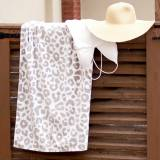 Personalized Natural Leopard Beach Towel
