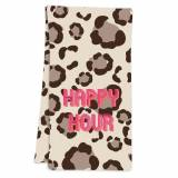 Clairebella Leopard Spots Tan Hostess Towel