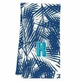 Clairebella Palm Leaves Navy Hostess Towel