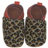 By Paige Needlepoint Leopard Baby Booties