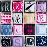 Monogrammed Custom Design Knit Square Pillow