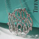 CZ Hand Set Monogrammed Necklace