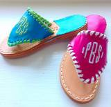 Child's Monogrammed Palm Beach Sandal
