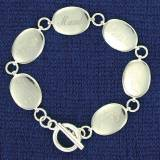 Mother's Oval Disc Bracelet With Up  . . .
