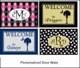 Monogrammed Welcome Mats