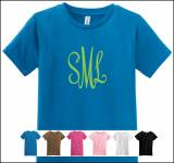 Monogrammed T Shirts Girls Slim Fit
