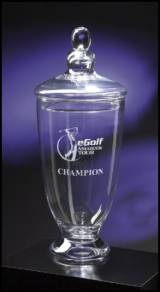 Personalized Crystal Trophy Cup Vase