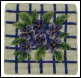 Set Of Four Hydrangea Needlepoint Coasters