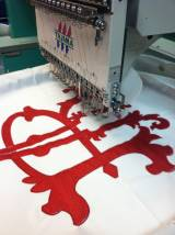 Royal Two Letter Monogram Sewing Out On One Of Our  . . .
