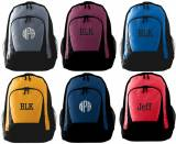 Monogrammed Backpack - 10 Colors - Largest  . . .