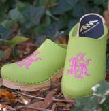 Hot Pink Royale Font On Lime Wool Upper