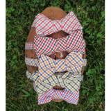 Preppy Campus Checks Bow Tie