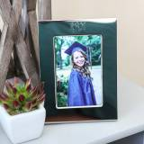 Monogrammed Picture Frame In Silver With  . . .