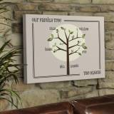 Personalized Canvas Sign Family Tree Print  . . .