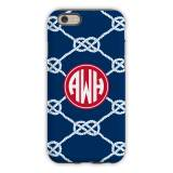 Personalized IPhone Case Nautical Knot Navy