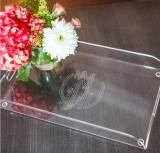 Monogrammed Larger Acrylic Tray