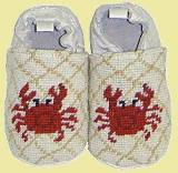 Red Crab Needle Point Booties