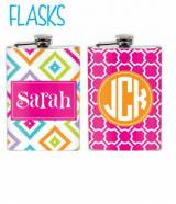 Monogrammed Flask Create Your Own Design.