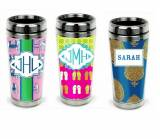 Monogrammed Stainless Steel Travel Tumbler  . . .