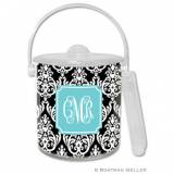 Personalized Ice Bucket Madison Damask