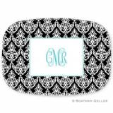 PersonaLized Madison Damask Platter From  . . .