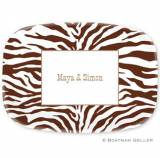 Personalized Zebra Platter Design Your Own