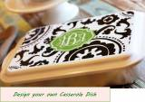 Design Your Own Monogrammed Casserole  . . .