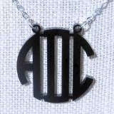 Monogram Necklace Acrylic Floating Circle  . . .
