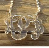Monogrammed Necklace Acrylic Floating Vine  . . .