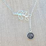 Monogram Engraved Acrylic Color Circle  . . .