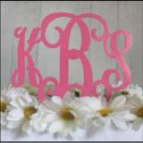 Metal Three Letter Monogram Cake Topper Or  . . .