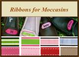 Monogrammed Moccasin Ribbons For Adults