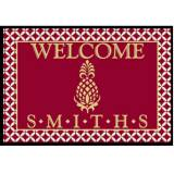 Personalized Welcome Mat With Burgundy And  . . .