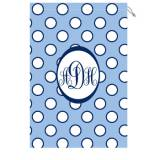 Monogrammed Laundry Bag With Light Blue  . . .