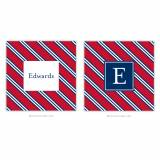 Personalized Coasters Repp Tie Red & Navy
