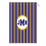 Monogram Laundry Bag With LSU Purple White  . . .