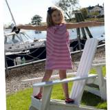 Nautical Sleeveless Cotton Dress For Girls