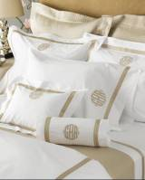 Matouk Lowell Monogrammed Bedding Collection