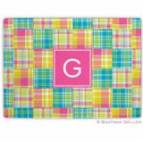Madras Patch Bright Glass Cutting Board