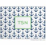 Anchors Navy Glass Cutting Board